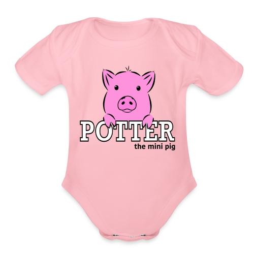 Potter's Logo - Organic Short Sleeve Baby Bodysuit