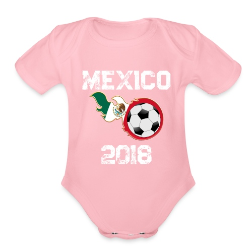 National Soccer Team World Flag Cup 2018 Shirts - Organic Short Sleeve Baby Bodysuit