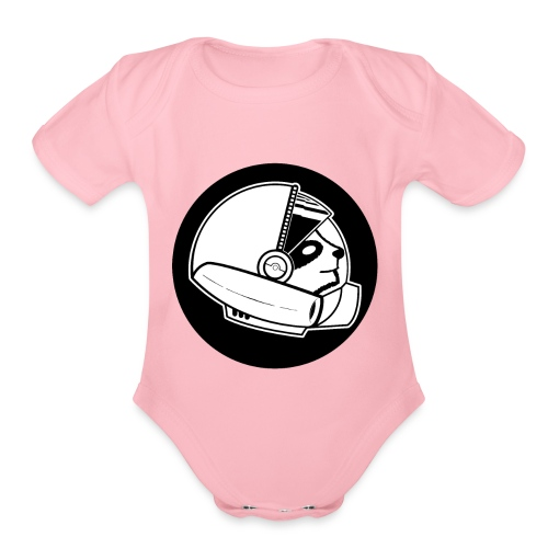 Space Sloth Logo - Organic Short Sleeve Baby Bodysuit