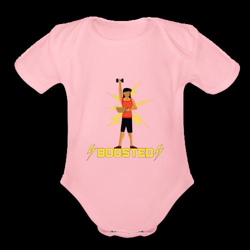 ⚡BOOSTED⚡ - Organic Short Sleeve Baby Bodysuit