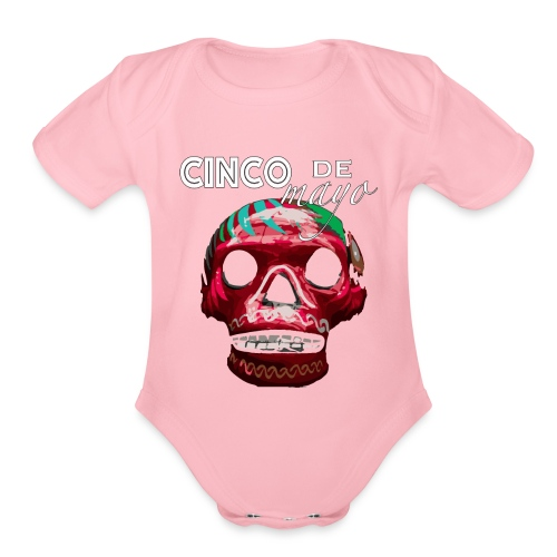 Cinco de Mayo Skull - Organic Short Sleeve Baby Bodysuit
