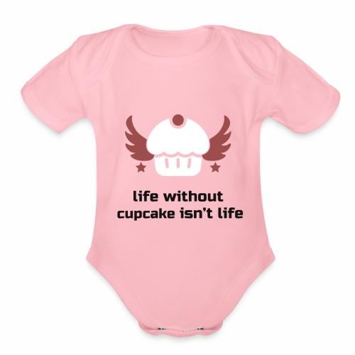 Cupcake T-Shirt - Organic Short Sleeve Baby Bodysuit