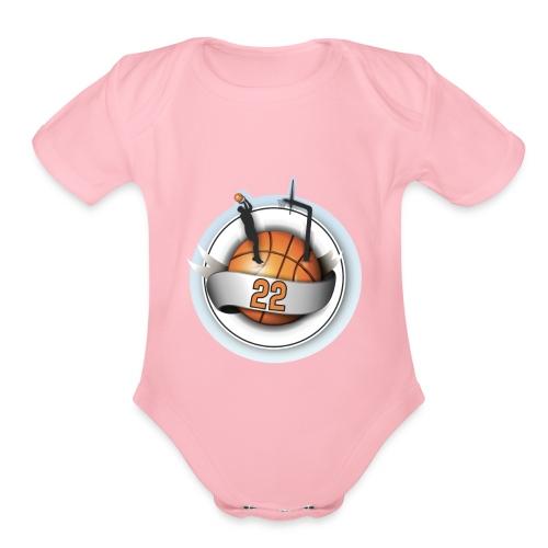 basket ball 22 - Organic Short Sleeve Baby Bodysuit