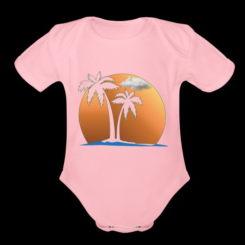 Summer and Gym and Beach Dress For Lover and Fond - Organic Short Sleeve Baby Bodysuit