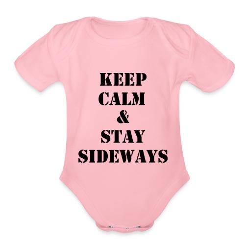 keepcalmstaysidways - Organic Short Sleeve Baby Bodysuit