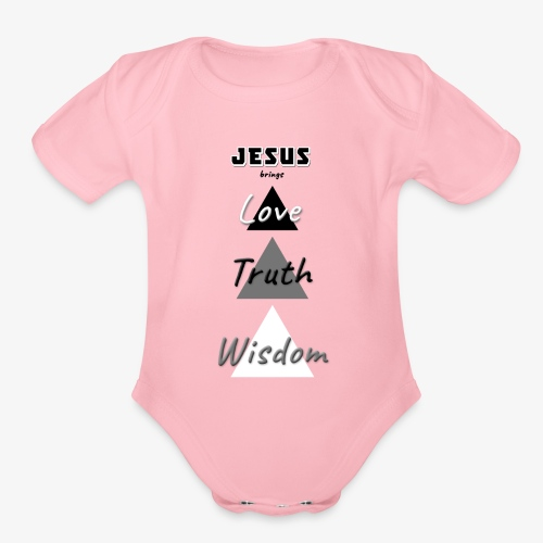 Love Truth Wisdom - Organic Short Sleeve Baby Bodysuit