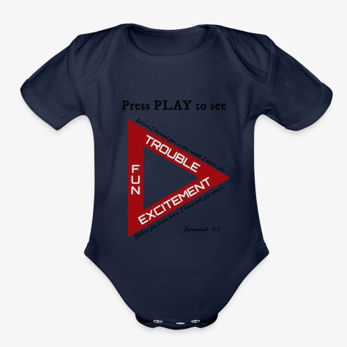 Press PLAY to See - Organic Short Sleeve Baby Bodysuit