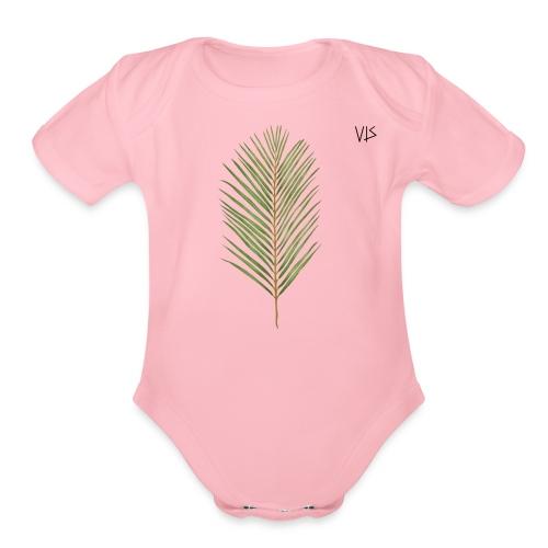 Vis - Areca Palm - Organic Short Sleeve Baby Bodysuit