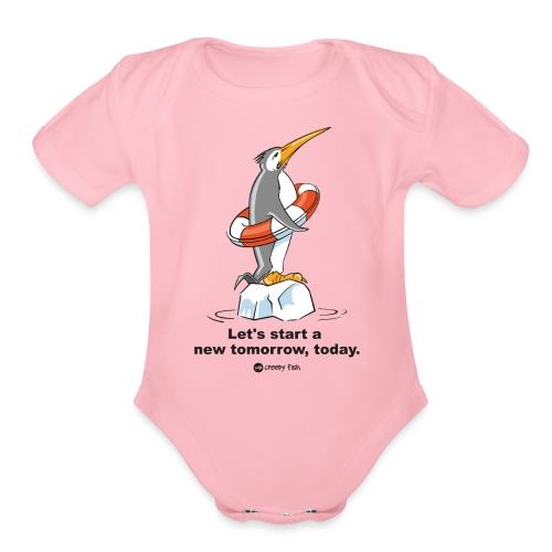 Let´s start a new tomorrow, today. Climate change - Organic Short Sleeve Baby Bodysuit