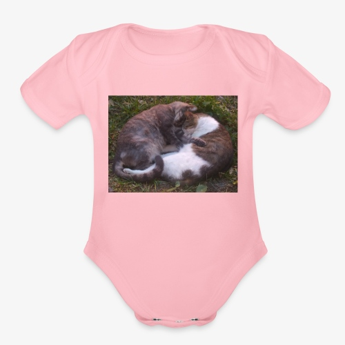Cat nap - Organic Short Sleeve Baby Bodysuit