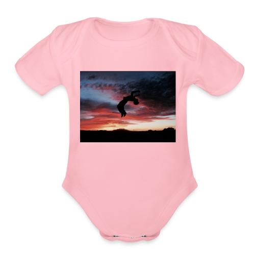 IMG 4869 - Organic Short Sleeve Baby Bodysuit