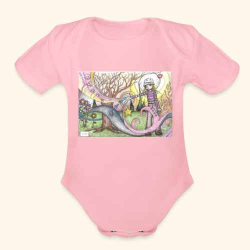 fantasy - Organic Short Sleeve Baby Bodysuit