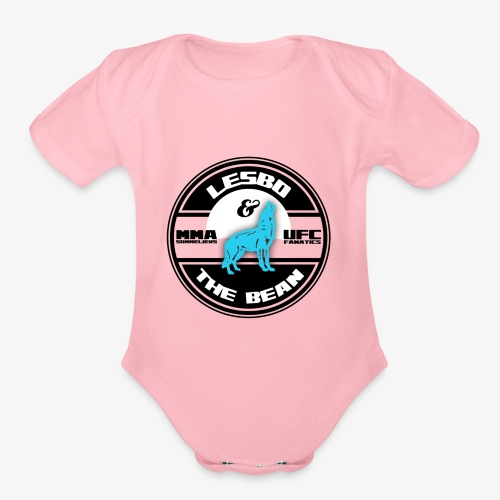 Lesbo and The Bean Logo - Organic Short Sleeve Baby Bodysuit