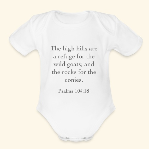 High Hills KJV - Organic Short Sleeve Baby Bodysuit