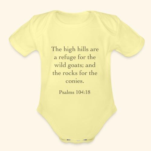 High Hills KJV - Organic Short Sleeve Baby Bodysuit
