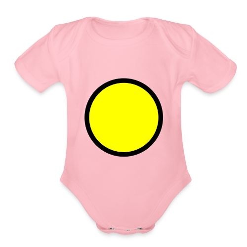 Circle yellow svg - Organic Short Sleeve Baby Bodysuit