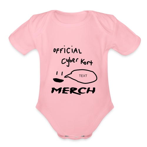 smiley speech design - Organic Short Sleeve Baby Bodysuit