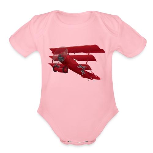 DR-1 Red Baron Triplane WWI Warbird - Organic Short Sleeve Baby Bodysuit