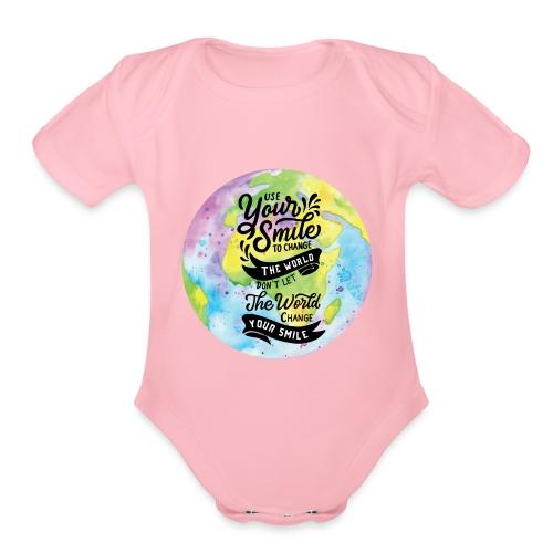 Use Your Smile - Organic Short Sleeve Baby Bodysuit