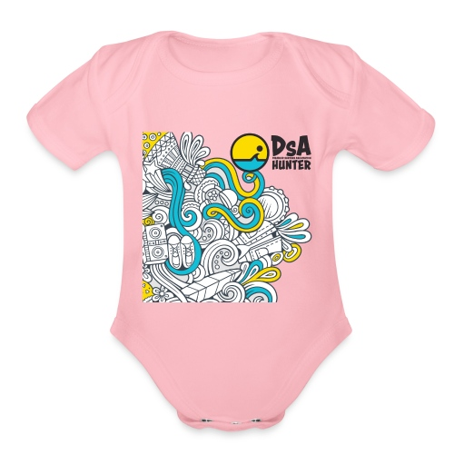DSA Hunter - Funky Design - Organic Short Sleeve Baby Bodysuit