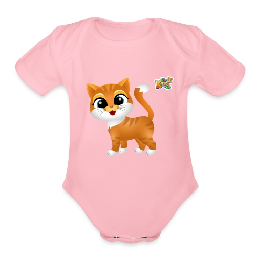 Cat - 123 Kids Fun Collection - Organic Short Sleeve Baby Bodysuit