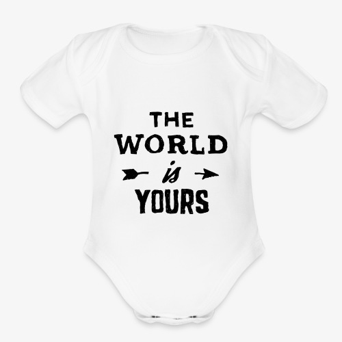 the world - Organic Short Sleeve Baby Bodysuit