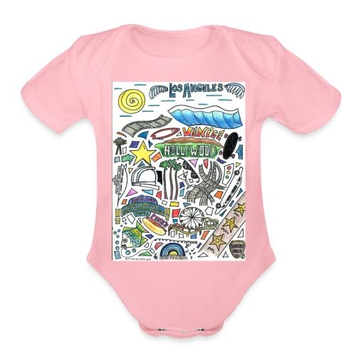 Los Angeles - Organic Short Sleeve Baby Bodysuit