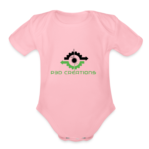P3D Creations Logo - Organic Short Sleeve Baby Bodysuit