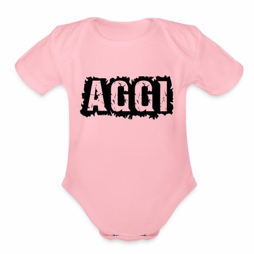 AGGI - Organic Short Sleeve Baby Bodysuit
