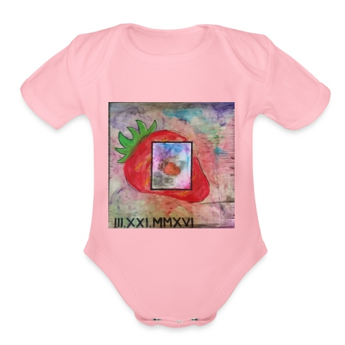 strawberry - Organic Short Sleeve Baby Bodysuit