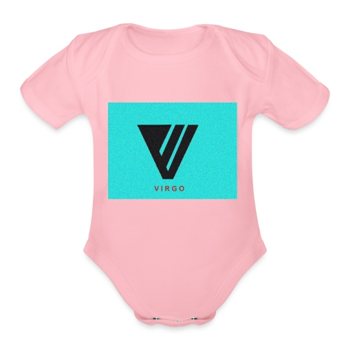 Virgo : Color - Organic Short Sleeve Baby Bodysuit