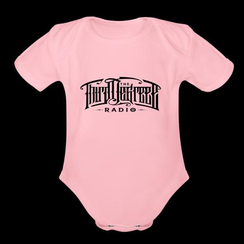 TDR - Tees Black Ink - Organic Short Sleeve Baby Bodysuit