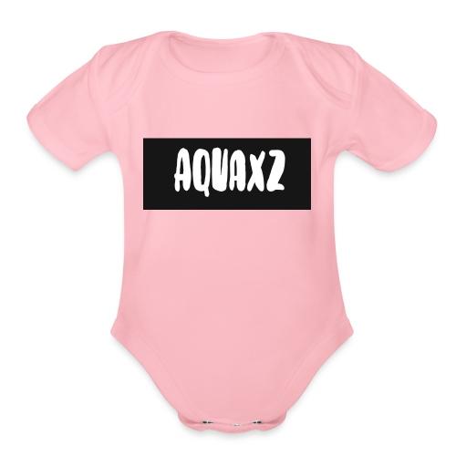aquashirtlogo - Organic Short Sleeve Baby Bodysuit
