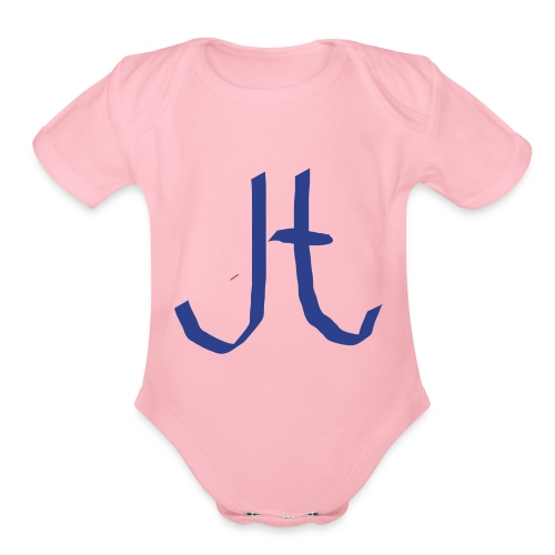 JT merch two youtubers conbined merch - Organic Short Sleeve Baby Bodysuit