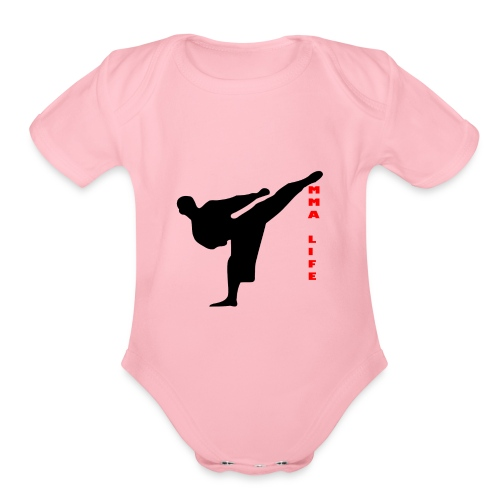 Mixed Martial arts such as MMA, BJJ by MMA LIFE - Organic Short Sleeve Baby Bodysuit