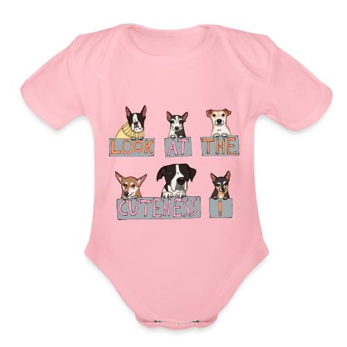 Look at the Cuteness - Organic Short Sleeve Baby Bodysuit