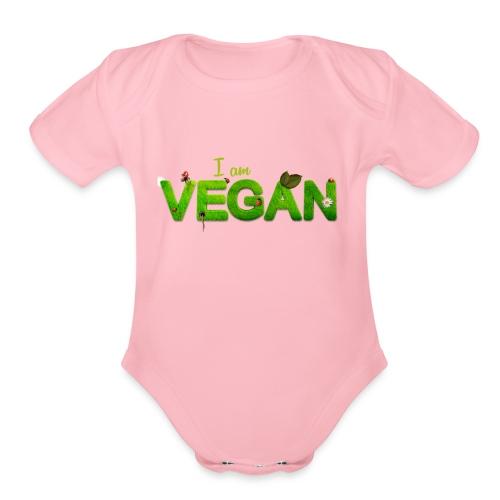 I am Vegan - Organic Short Sleeve Baby Bodysuit