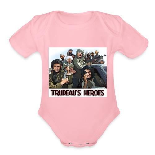 Trudeau's Heroes - Organic Short Sleeve Baby Bodysuit