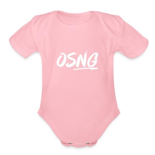 ALLWHITESLASH - Organic Short Sleeve Baby Bodysuit