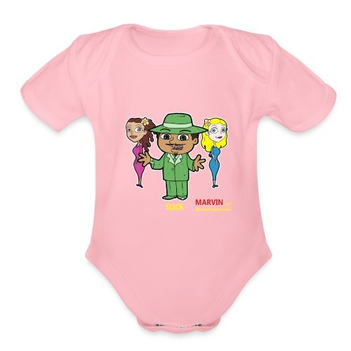 Slick from Marvin the Simp Cartoon - Organic Short Sleeve Baby Bodysuit