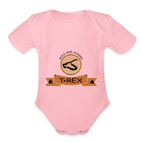T REX - Organic Short Sleeve Baby Bodysuit