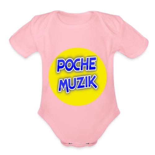 poche MUZIK - Organic Short Sleeve Baby Bodysuit