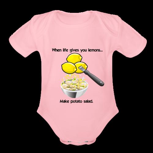 Lemon Taters 2 - Organic Short Sleeve Baby Bodysuit
