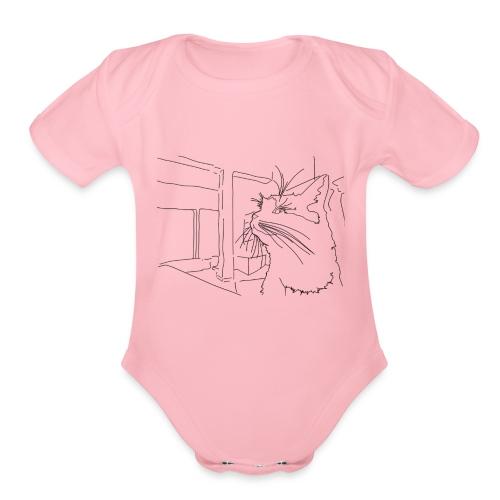 Sassy Cat-chan - Organic Short Sleeve Baby Bodysuit