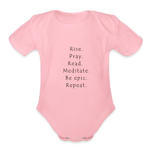 Rise... - Organic Short Sleeve Baby Bodysuit