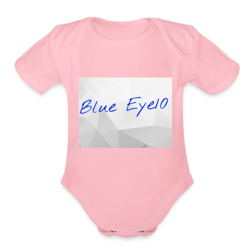 Blue Eye10 - Organic Short Sleeve Baby Bodysuit