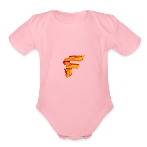 FlameyMC's Logo - Organic Short Sleeve Baby Bodysuit