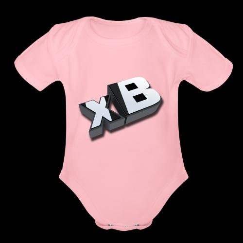 xB Logo - Organic Short Sleeve Baby Bodysuit