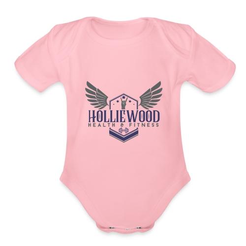 HollieWood Health & Fitness - Organic Short Sleeve Baby Bodysuit