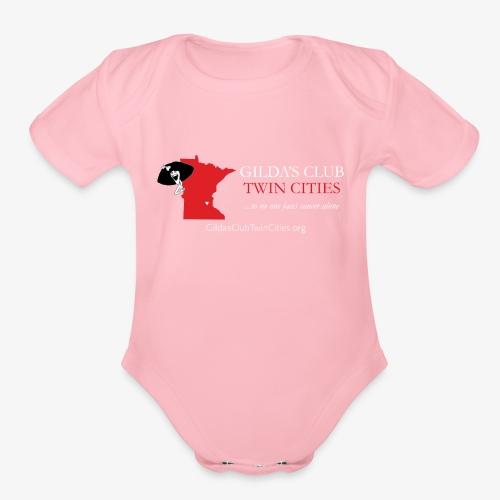 GCTC MN State for Dark Apparel - Organic Short Sleeve Baby Bodysuit